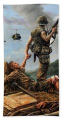 Brothers In Arms Hand Towel
