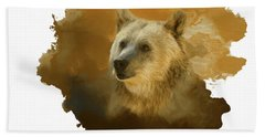 Bath Towel featuring the painting Brown Bear by Steven Richardson