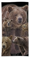Brown Bears 8 Hand Towel