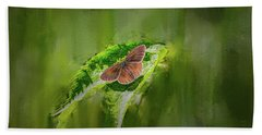 Brown Butterfly #h6 Bath Towel