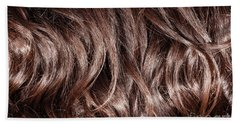 Brown Curly Hair Background Hand Towel
