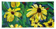 Brown-eyed Susans Hand Towel