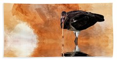 Brown Ibis Bath Towel by Cyndy Doty