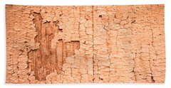 Brown Paint Texture Hand Towel by John Williams