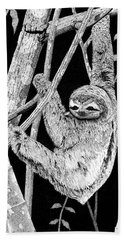 Brown-throated Three-toed Sloth Bath Towel