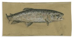 Brown Trout Hand Towel by Juan Bosco