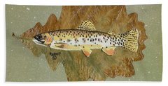 Brown Trout Bath Towel by Ralph Root