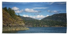 Browns Bay Hand Towel by Randy Hall