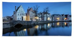 Magical Brugge Bath Towel by JR Photography