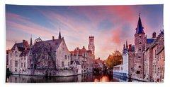 Bruges Sunset Bath Towel