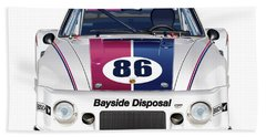 Brumos Porsche 935 Illustration Bath Towel
