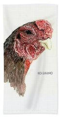 Bruno The Ko Shamo Rooster Bath Towel