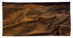 Bath Towel featuring the painting Brushed With Gold by Nancy Kane Chapman