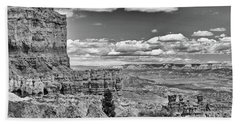 Bryce Canyon In Black And White Bath Towel by Nancy Landry