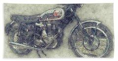 Bsa Gold Star 1 - 1938 - Motorcycle Poster - Automotive Art Bath Towel