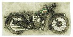 Bsa Sloper 1 - 1927 - Vintage Motorcycle Poster - Automotive Art Bath Towel