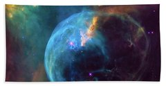 Bath Towel featuring the photograph Bubble Nebula by Marco Oliveira