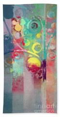 Bath Towel featuring the painting Bubble Tree - 285l by Variance Collections
