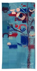 Bath Towel featuring the painting Bubble Tree - 85e-j4 by Variance Collections