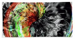 Bubbles Hand Towel by Elaine Hunter
