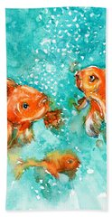 Bubbles Hand Towel by Judith Levins