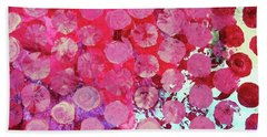 Hand Towel featuring the mixed media Bubbles by Mary Ellen Frazee