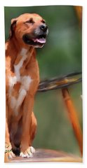 Buck Bath Towel by Colleen Taylor