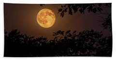 Bath Towel featuring the photograph Buck Moon 2016 by Everet Regal