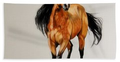 Buckskin Thoroughbred Bath Towel by Cheryl Poland