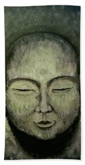 Buddha In Green Hand Towel