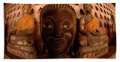 Hand Towel featuring the photograph Buddha Laos 1 by Bob Christopher