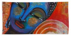 Bath Towel featuring the painting Buddha by Prerna Poojara