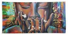 Buddhaflies Hand Towel