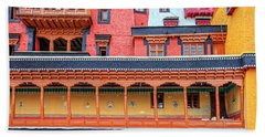 Hand Towel featuring the photograph Buddhist Monastery Building by Alexey Stiop