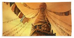 Buddhist Stupa- Nepal Bath Towel