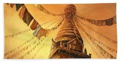 Buddhist Stupa- Nepal Hand Towel