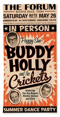 Buddy Holly Hand Towel