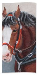 Budweiser Clydesdale Hand Towel