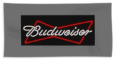 Budweiser T-shirt Bath Towel by Herb Strobino