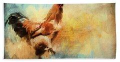 Buff Brahma Mrs. Darwin's Rooster  Bath Towel