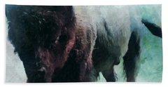 Buffalo American Bison Hand Towel by Michele Carter