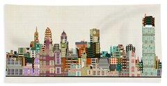 Buffalo City New York Bath Towel