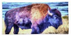 Buffalo Fine Art Print Hand Towel