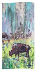 Buffalo Grazing Bath Towel