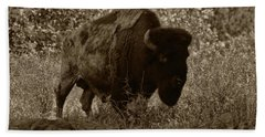 Buffalo Junction Hand Towel by B Wayne Mullins