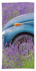 Bath Towel featuring the photograph Bug In Lavender Field by Patricia Davidson