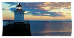 Bug Light, Portland Maine Bath Towel