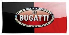 Bugatti 3 D Badge On Red And Black  Bath Towel