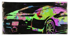 Bugatti Veyron Watercolor Bath Towel