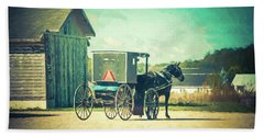 Bath Towel featuring the photograph Buggy Ride by Joel Witmeyer